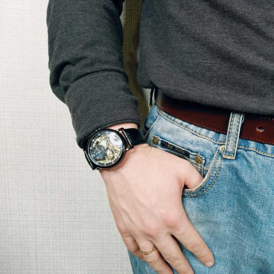 Relogio mecanico KINYUED อัตโนมัติ Mechanical นาฬิกาผู้ชาย Tourbillon Skeleton ผู้ชาย Horlogerelogio mecanico relojes automaticos