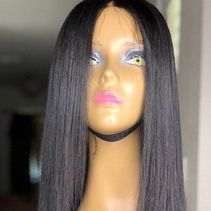Image 5 - 13x6 парики из натуральных волос на кружеве, короткий парик из искусственной кожи головы, прямой, короткий, длинный, предварительно выщипанный с детскими волосами Remy для черных женщин 130%
