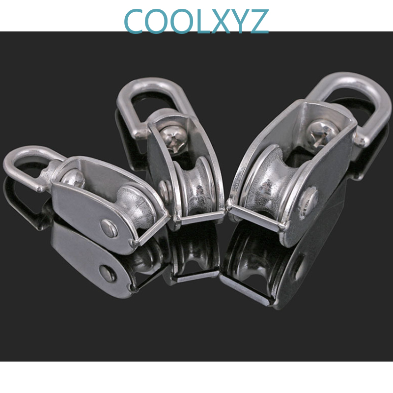 304 Stainless Steel Single / Double Pulley Wire Rope Chain Traction Fixed Pulley Lifting Load Pulley Single Pulley