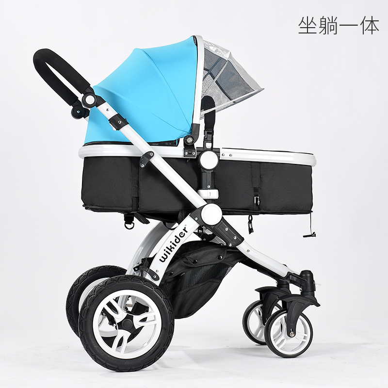 <font><b>3</b></font> <font><b>In</b></font> <font><b>1</b></font> High Landscape <font><b>Baby</b></font> Stroller Luxury Portable <font><b>Baby</b></font> Carriages Folding <font><b>Prams</b></font> For Newborns Travel System image
