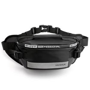 Image 1 - Waterproof waist bag Man Money Belt Bag Teenagers Travel Wallet Belt Male Waist Pack Cigarette Case for Phone