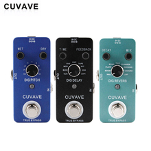 CUVAVE DIG Series Reverb Delay Effect Pedal True Bypass Looper Overdrive Distortion Guitar Pedal Stompbox Tuner Pedal