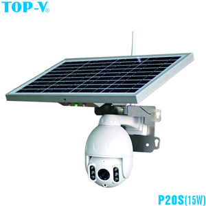 1080P Nuvem De Armazenamento AI detecção de Rastreamento Automático De PTZ de alta velocidade da Abóbada Câmera IP com IR leds Solar e 15W Painel Solar