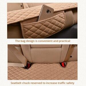 Image 3 - AUTOYOUTH pokrowce na siedzenia samochodowe przód/tył/pełny zestaw wybierz poduszki na siedzenia samochodowe tkanina lniana akcesoria samochodowe uniwersalny rozmiar antypoślizgowy