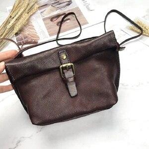 Image 2 - MJ لينة جلد طبيعي المرأة حقيبة ساعي الإناث الجلد الحقيقي Crossbody حقائب كتف حقيبة يد صغيرة الرجعية حقيبة الهاتف للفتيات