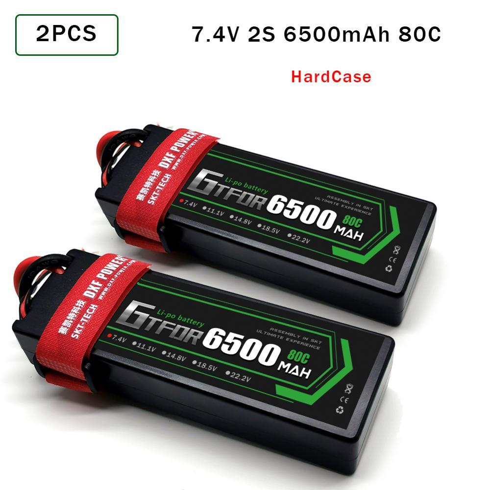 GTFDR 2 uds batería Lipo 2S 7,4 V 5200mAh 6200mAh 6500mAh 7000mAh 50C 100C 200C 60C 120C 80C 160C para Off-Road coche piezas de control remoto GTFDR 2 uds batería lipo 2S 3S 7,4 V 10000mah 8400 9300mah 110C 220C 130C 260C 60C 120C HV 3S 11,4 mah 5200 V 20C para QRX350 RC Coche