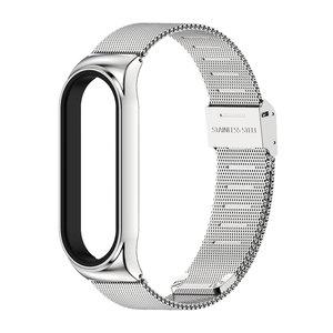 Image 4 - Strap for Mi Band 5 6 Metal Milanese Bracelet On Mi Band 4 Wristband Stainless Steel Mi Band 3 Strap For Xiaomi Miband 5 4 Xaomi