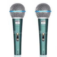 2 pçs interruptor profissional handheld microfone dinâmico vocal para beta 58a beta58a leitor de música cantar gravador ktv dj controlador