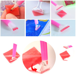Image 4 - DIY Glue Clay Tool Diamond Painting Accessories 2*2cm Nouveaute Point Sticking Round Square Drill Pen Storage Box Label Paper