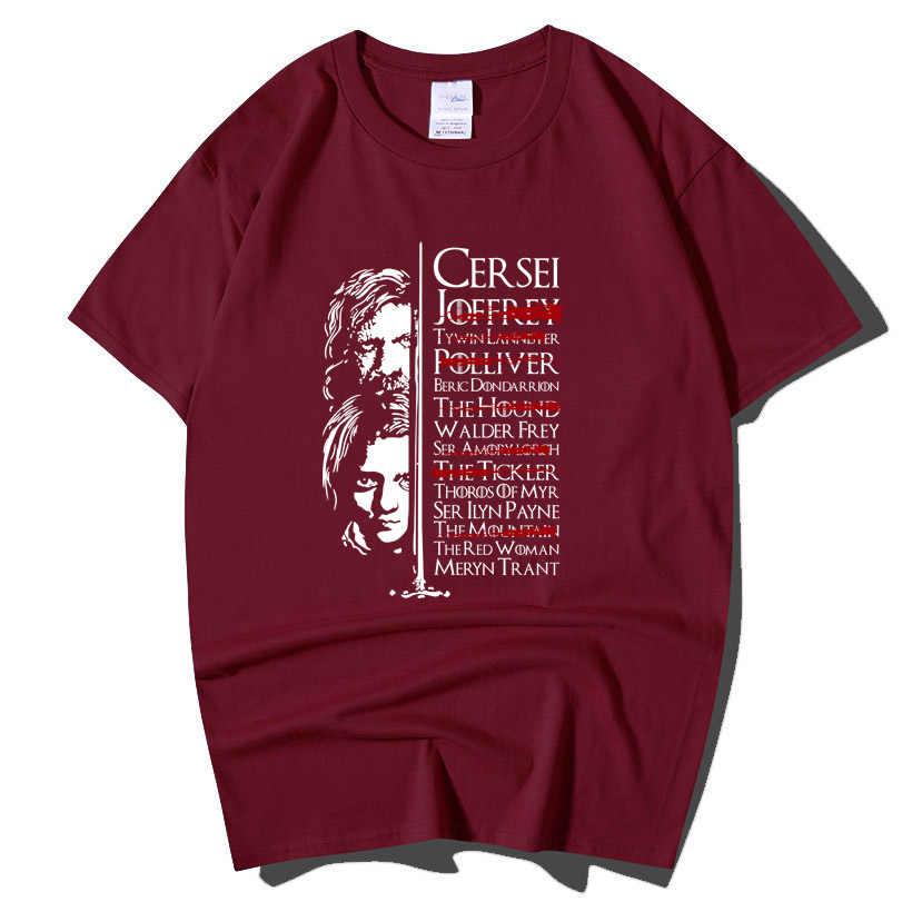 Game Of Thrones Arya Stark Töten Liste Lustige T Shirt Männer Männlich Plus Größe Kurzarm O Hals Baumwolle T-Shirt sommer Tops T T-shirt