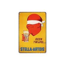 Metal estanho sinal stella artois cerveja geen twijfel decoração bar pub casa vintage retro (visite nossa loja, mais produtos!!!)
