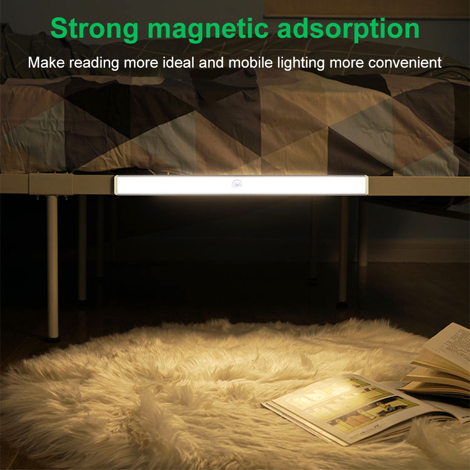 24 40 60 LED Motion Sensor Light Security Wall Lamp Toilet Lights USB Rechargeable LED Night Light For Closet Stair Kitchen