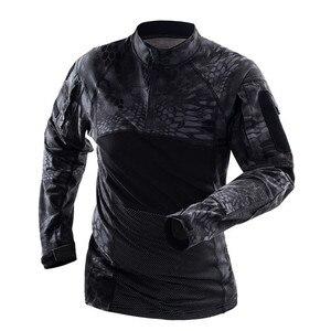 Image 3 - Mege hommes militaire tactique t shirt gymnastique Camouflage armée à manches longues t shirt soldats vêtements de Combat Airsoft uniforme Multicam chemise