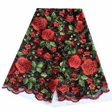 Afrykańska koronkowa Tissu Telas tkanina na sukienkę, francuska wysokiej jakości gipiury szwajcarska kwiecista koronka, Diy materiał patchworkowy tkanina Tecido