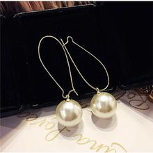 European And American Style Super Fairy Simple Wild Temperament Pearl Earrings Ear Hooks Womens Accessories Wholesale
