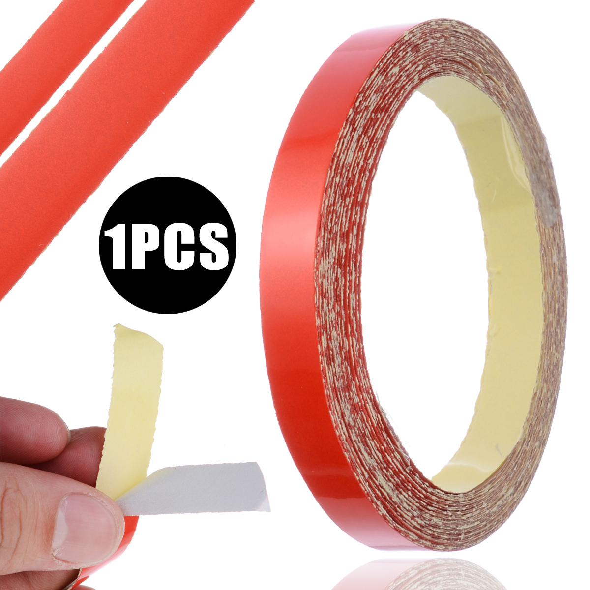 1 Roll 9M DIY Decorative Safety Reflective Tape Red Warning Roll Strip Tape Fit For Car Truck Bicycle Motorcycle