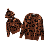 Family Matching Outfits Mother Daughter Son Kid Long Sleeve Leopard Shirt Family Clothes Looking Outfits