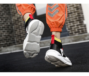Image 5 - New spring and autumn winter mens high shoes outdoor shoes breathable sweat absorbent lightweight increase shoes wear shoes