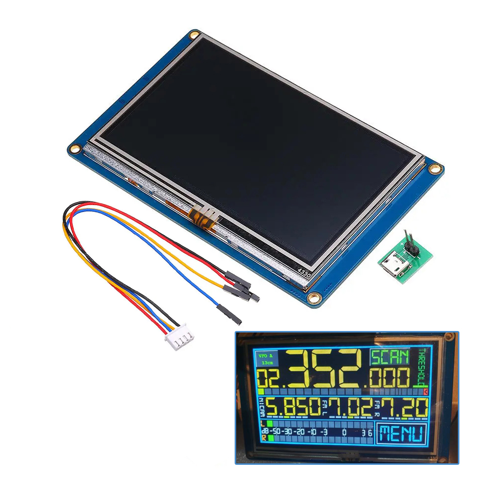 Nextion NX4827T043 4.3 Inch 480x272 HMI Intelligent Smart USART UART Serial Touch TFT LCD Screen Module Display Panel For RSP image