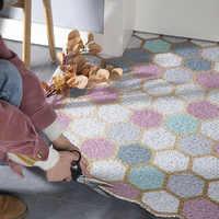Nórdicos felpudo para entrada del hogar PVC suelo antideslizante Mat alfombra de baño cocina interior cocina baño puerta de la sala de alfombra