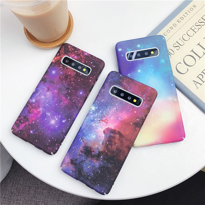 Luminous Scrub Hard plastic Phone Case For Samsung Galaxy S10 Plus Case cover For Samsung S9 Plus S8 A6 <font><b>A72018</b></font> Note 9 A50 fundas image