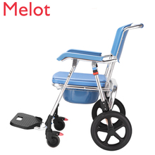 Wheelchair Belt Pedestal Pan Paralysis The Elderly Can Take A Shower Wheelchair Many Function Move Closestool Disabled
