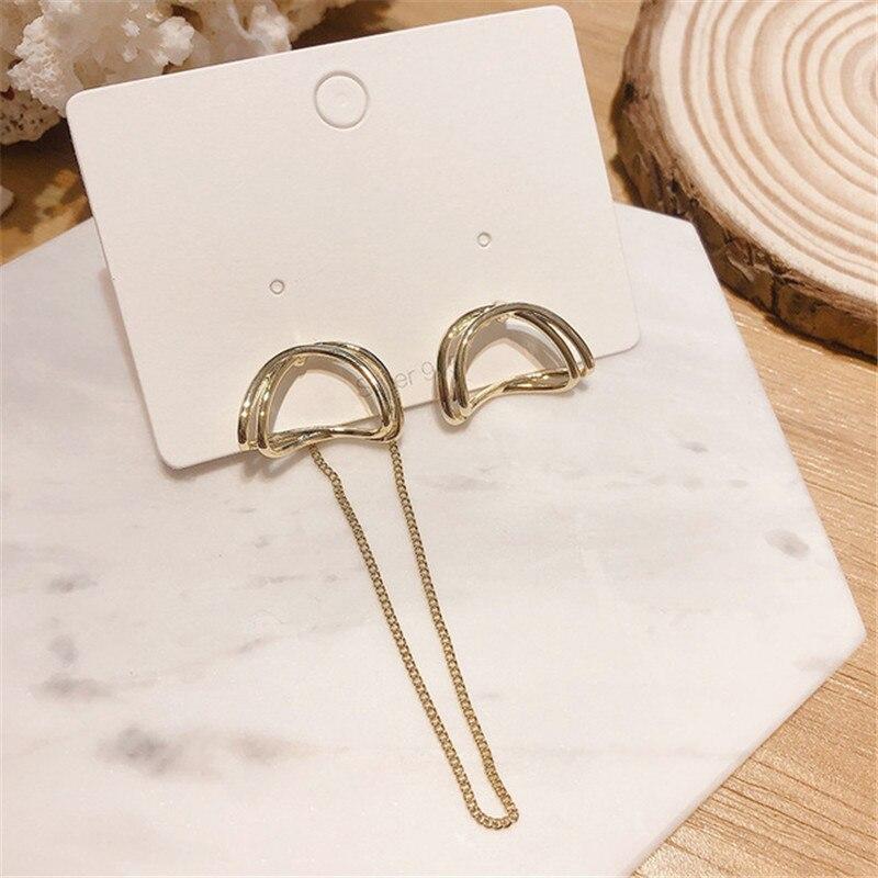 Купить женские длинные серьги капельки простые металлические кольца
