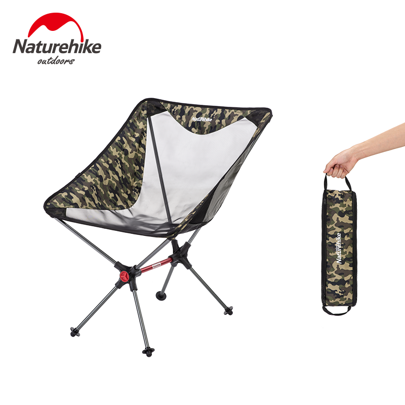 Naturehike Travel Ultralight Folding Chair Superhard High Load Outdoor Camping Chair Portable Beach Hiking Fishing Tools Chair