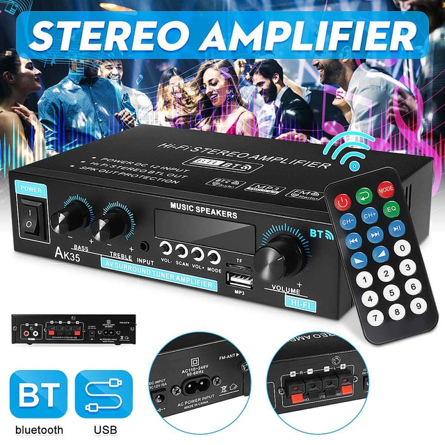 Mini 2.0 Channel Digital Amplifier 110V/220V 400W+400W 1