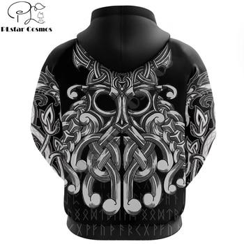Viking symbol odin Tattoo All-Over Printed 3D Hoodie and Sweatshirt Harajuku Fashion hoodies Unisex Casual Jacket pullover 2