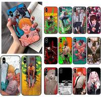 WQJ motosierra caliente Anime teléfono caso para iPhone 12 Mini 11 Pro XS Max X XR 7 8 Plus