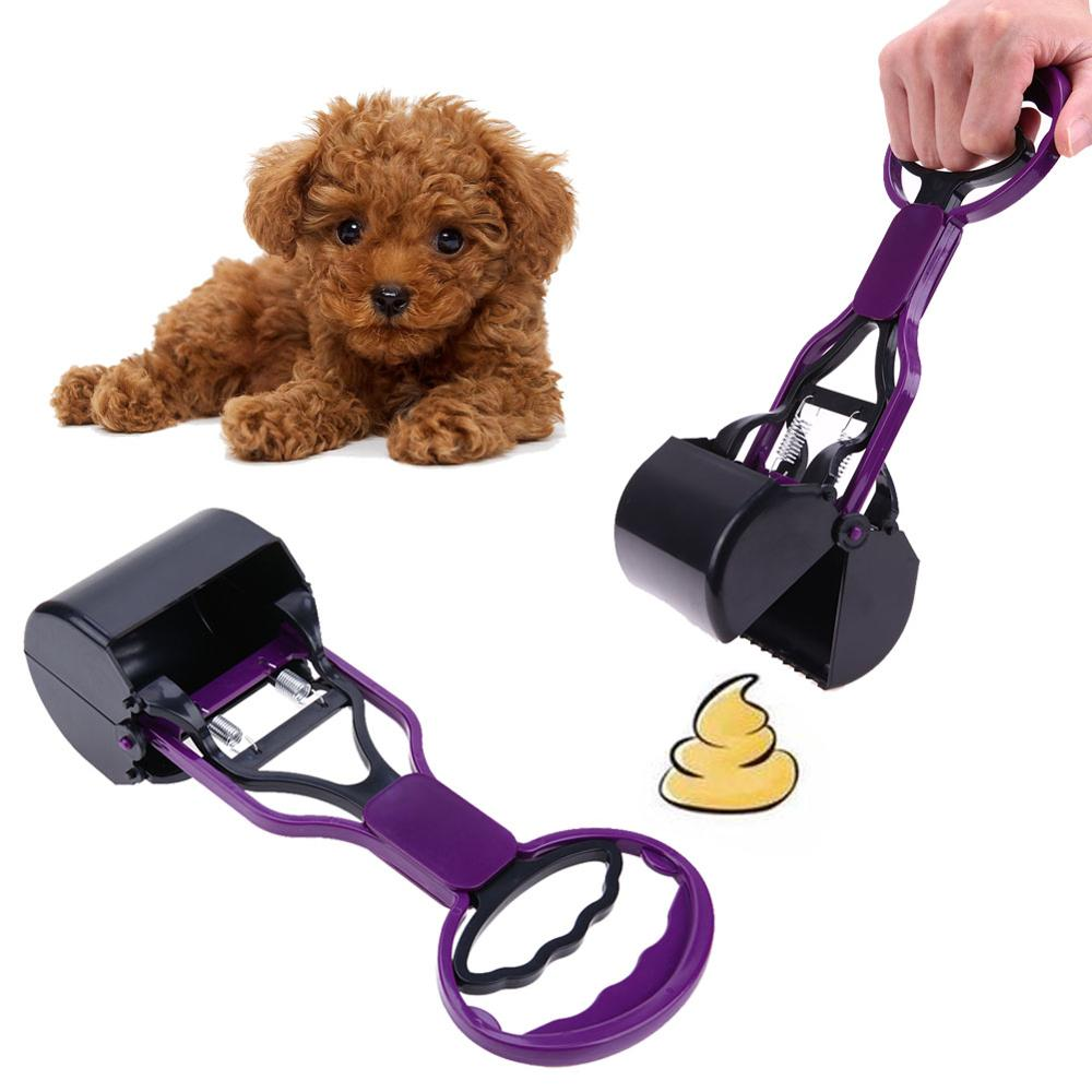 Portable Pet Dog Cat Pooper Long Handle Jaw Poop Scoop Cleaner Pick Up Animal Waste For Dog Supplies Outdoor Cleaning Tool