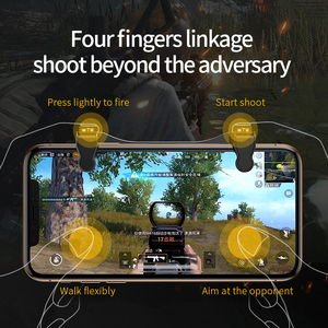 Image 4 - Baseus Gamepad Joystick Game Trigger For PUBG L1RL Gaming Shooter Fire Button Phone Cooler For iPhone Andriod Mobile Controller