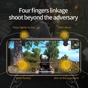 Image 4 - عصا تحكم من Baseus Gamepad مزودة بمشغل لألعاب PUBG L1RL مزودة بزر إطلاق نار ومبرد لهاتف iPhone Andriod للتحكم بالهاتف المحمول