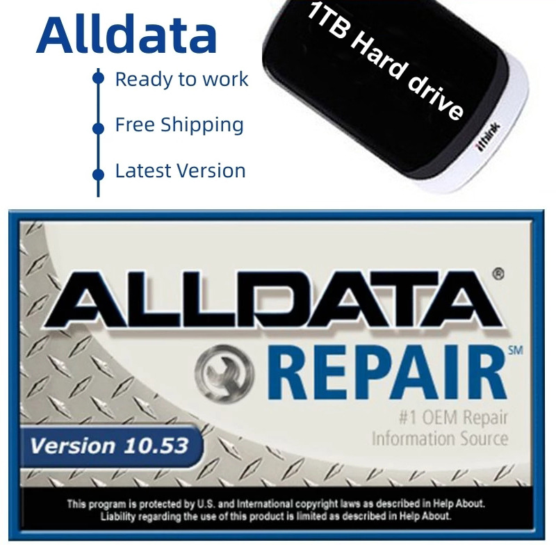 Alldata 2021 Hot Sale 10.53v Repair Software 10.53+2015 MiT +ESI BOOSI Full Set - Domestic/Asian/Europe with 1TB HDD