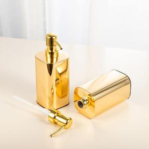 Image 4 - זהב (420ml & 300 ml) 304 נירוסטה נוזל סבון Dispenser Sanitizer יד בקבוק לאמבטיה