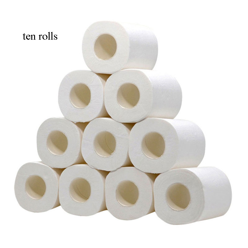 10/pcs Top Quality Toilet Paper 3-Ply Native Wood Soft Toilet Paper PulpStrong Water Absorption Home Rolling Paper Toilet Paper
