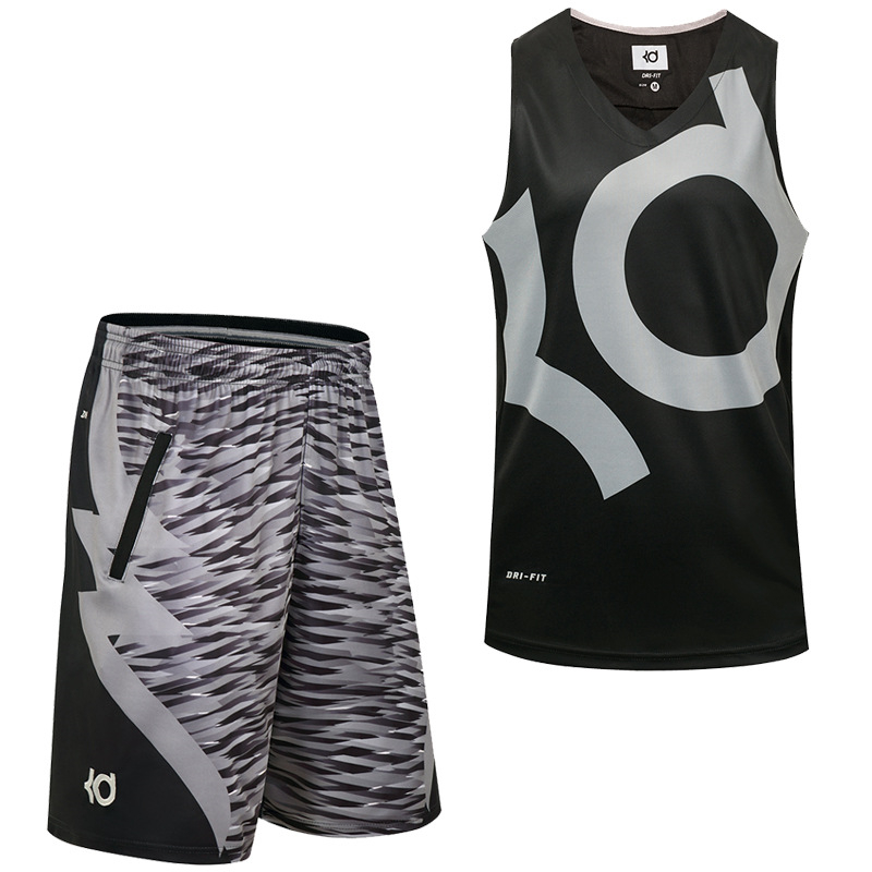 New Basketball Set Men's Large Size Loose Basketball Jersey+Shorts KD/KI/KB Combination Training Competition Sportswear M-4XL