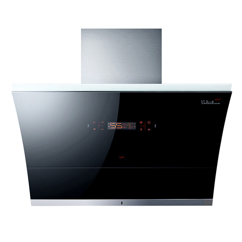 Household Range Hood Kitchen Ventilator Smoke Exhaust Ventilator Strong Suction & Auto Cleaning Side Suction Hood 900mm