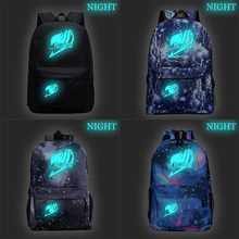 Beautiful FAIRY TAIL Luminous Backpack School Rucksack New Pattern Bag Boys Girls Book Knapsack Men Women Laptop