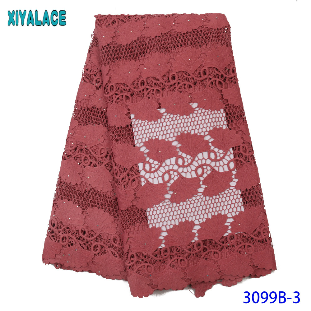 2019 High Quality Nigerian Lace Fabrics Latest Stoned Mesh Cord African Lace Fabric French Net Lace Fabric For Bride KS3099B