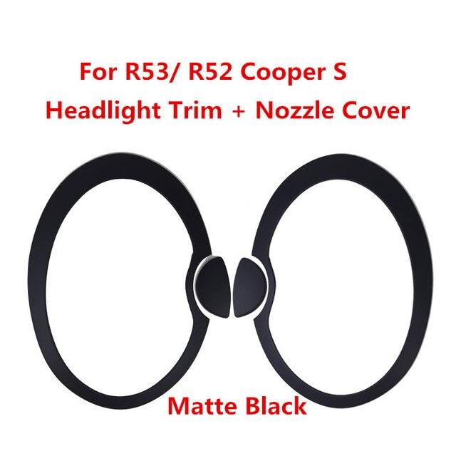 미니 쿠퍼 r50 r52 r53 외부 스타일링을위한 매트 블랙 자동차 헤드 라이트 몰딩 트림 링 커버 스티커