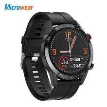 Microwear L13 SmartWatch połączenie Bluetooth IP68 wodoodporna wiadomość Push wiele trybów sportowych ekran ekg 1.3 IPS VS L11 inteligentny zegarek