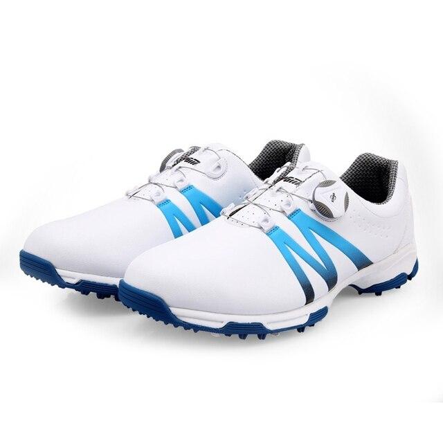 2020 Golf ayakkabıları erkekler döner topuzlar toka Golf Sneakers nefes Golf ayakkabıları su geçirmez spor ayakkabı erkek eğitim Sneakers