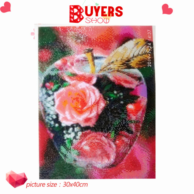 HUACAN 5D DIY Diamond Painting Scenic Full Square Diamond Embroidery Flower Cross Stitch Mosaic Crystal Home