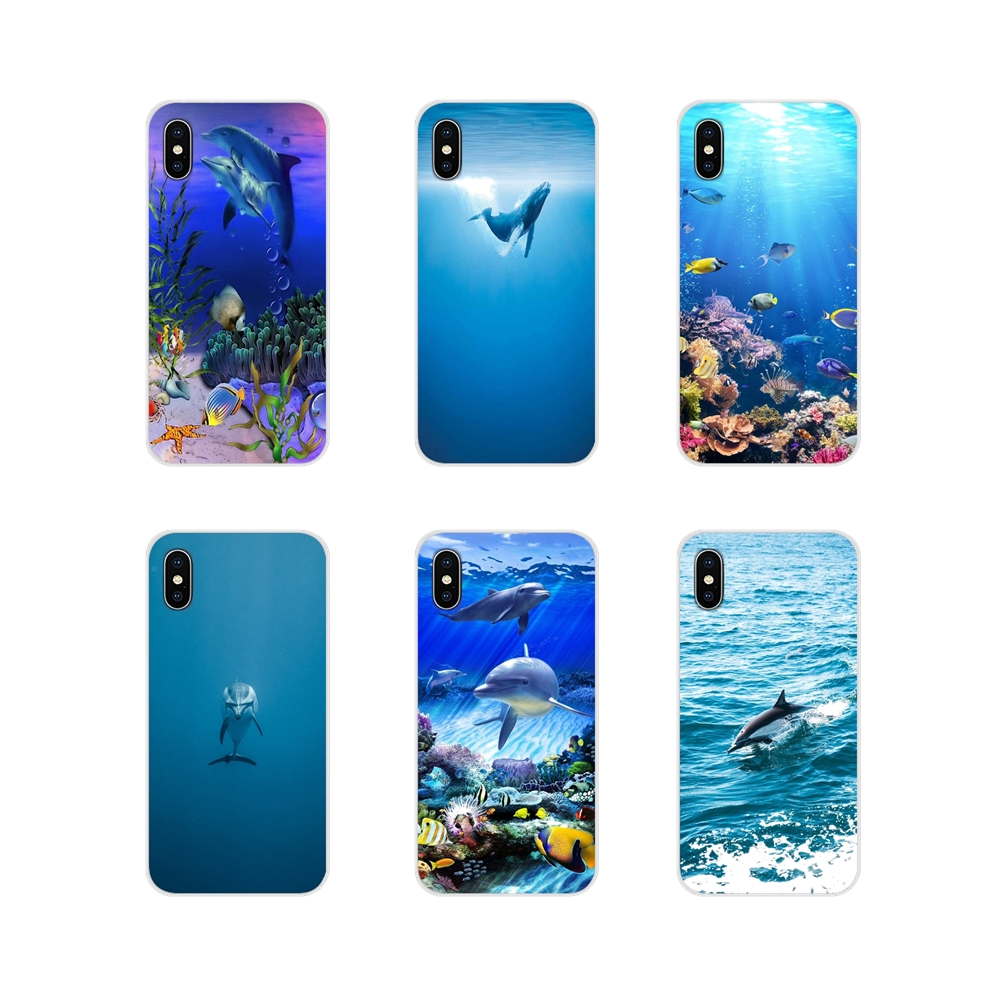 Accessories Phone Shell Covers dolphins in the reef For ZTE Blade A5 2019 V6 V7 V8 Lite V9 V10 A 452 510 512 520 530 602 610 910