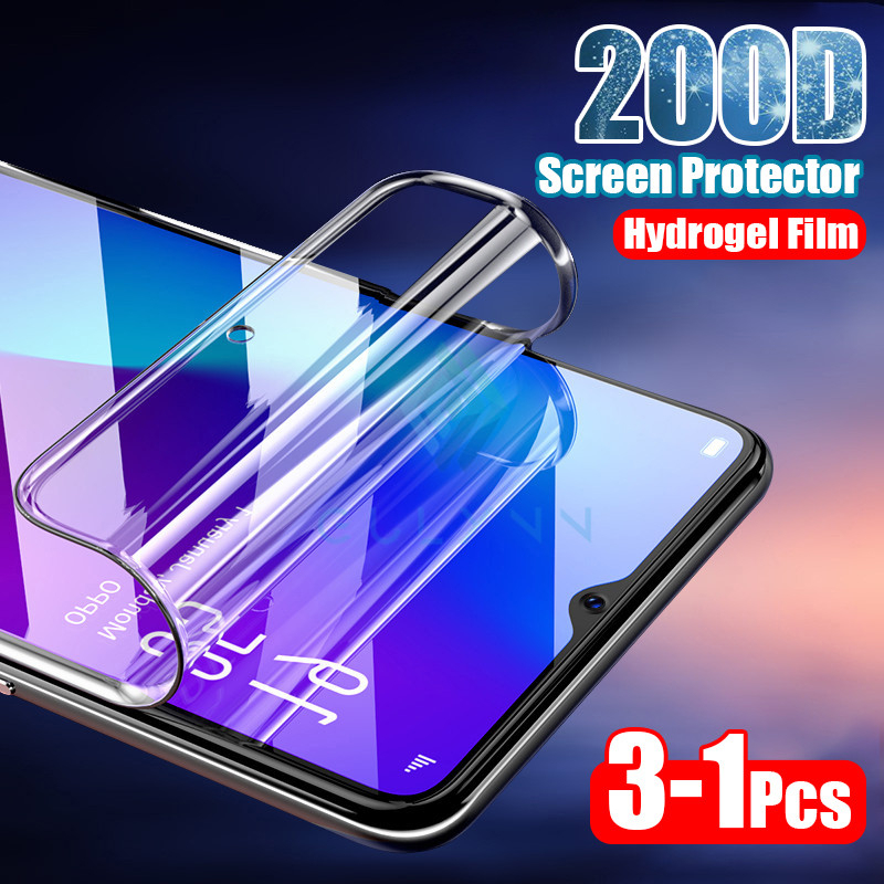 3pcs 200D Curved Hydrogel Soft Film For <font><b>Xiaomi</b></font> Mi 9T 10 <font><b>Redmi</b></font> <font><b>Note</b></font> 8 Pro 8T <font><b>7</b></font> 6 5 4X K20 K30 Screen Protector Not <font><b>Tempered</b></font> <font><b>Glass</b></font> image