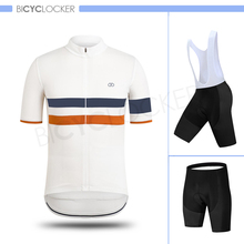 Raphaing Men Cycling Jersey Sets Bicycle Clothes Short Clothing Full Zip Moisture Wicking Quick-Dry Bike Shirt 3D Padded Shorts