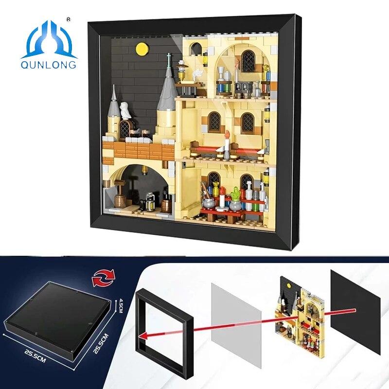 Набор строительных блоков QUNLONG Ceator Expert, Модульные строительные блоки для городского дома, настенные художественные украшения, детские игру...