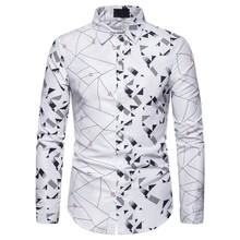 Shirt Men Casual Long Sleeve Men's Floral Shirts Hawaii Casual Male Flower Print Beach Holiday Camisa S-XXL frommer s® hawaii 2007